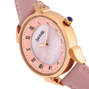 Sophie and Freda Mykonos Mother-Of-Pearl Leather-Band Watch - Light Pink - SAFSF5505