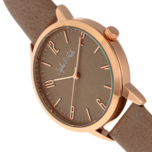 Load image into Gallery viewer, Sophie and Freda Vancouver Leather-Band Watch - Tan - SAFSF4904