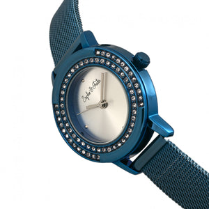 Sophie & Freda Cambridge Bracelet Watch w/Swarovski Crystals - Blue - SAFSF4104
