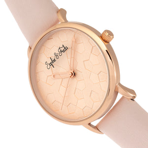 Sophie & Freda Breckenridge Leather-Band Watch - Rose Gold/Light Pink - SAFSF4707