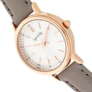 Sophie & Freda Berlin Leather-Band Watch - Grey - SAFSF4806