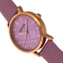 Load image into Gallery viewer, Sophie and Freda Budapest Leather-Band Watch - Pink - SAFSF5005