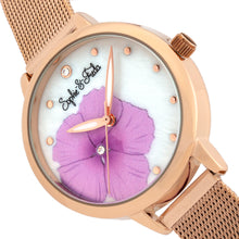 Load image into Gallery viewer, Sophie and Freda Raleigh Mother-Of-Pearl Bracelet Watch w/Swarovski Crystals - Pink - SAFSF5705