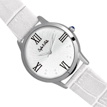 Load image into Gallery viewer, Sophie & Freda Sonoma Leather-Band Watch w/Swarovski Crystals - Silver/White - SAFSF4401