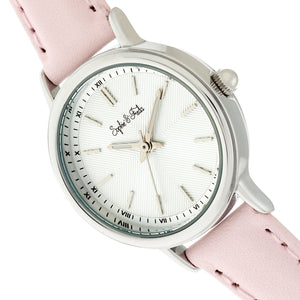 Sophie & Freda Berlin Leather-Band Watch - Light Pink - SAFSF4804