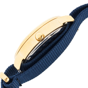 Sophie & Freda Nantucket Nylon-Band Ladies Watch - Gold/Navy - SAFSF3304
