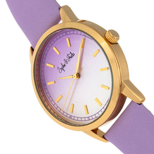 Sophie and Freda San Diego Leather-Band Watch - Purple - SAFSF5104