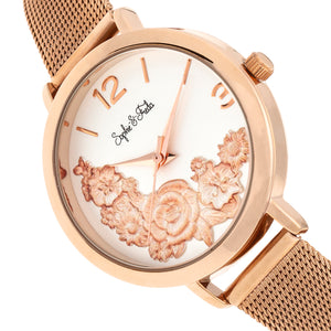 Sophie and Freda Lexington Bracelet Watch - Rose Gold/White - SAFSF5205