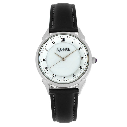 Sophie and Freda Mykonos Mother-Of-Pearl Leather-Band Watch - SAFSF5501