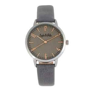 Sophie and Freda Vancouver Leather-Band Watch - Grey - SAFSF4902