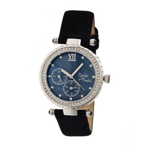 Sophie & Freda Montreal MOP Leather-Band Watch - SAFSF3002