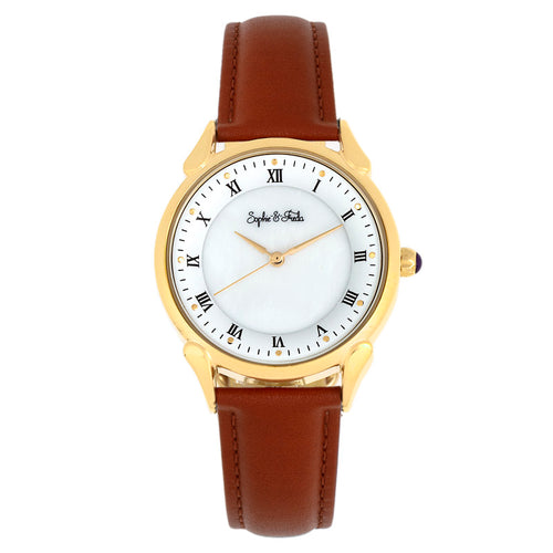 Sophie and Freda Mykonos Mother-Of-Pearl Leather-Band Watch - SAFSF5503