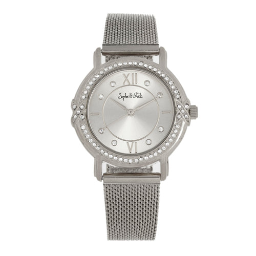 Sophie and Freda Reno Bracelet Watch w/Swarovski Crystals - SAFSF5401
