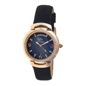 Sophie & Freda New Orleans MOP Leather-Band Watch