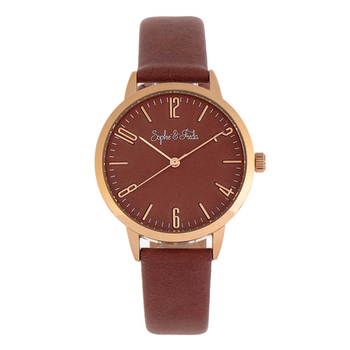Sophie and Freda Vancouver Leather-Band Watch - SAFSF4906
