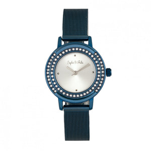Sophie & Freda Cambridge Bracelet Watch w/Swarovski Crystals
