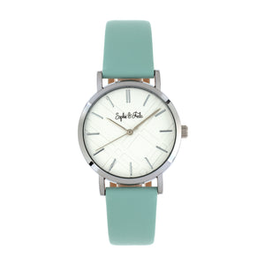 Sophie and Freda Budapest Leather-Band Watch - Teal - SAFSF5001