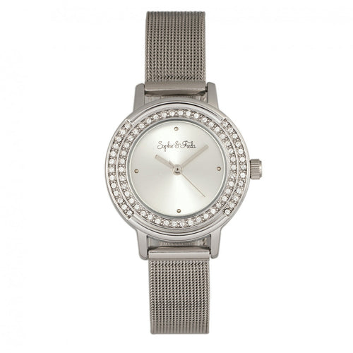Sophie & Freda Cambridge Bracelet Watch w/Swarovski Crystals - SAFSF4101