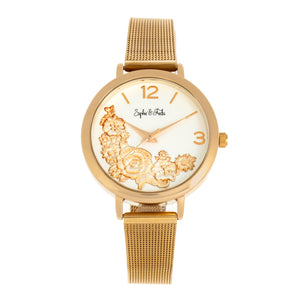Sophie and Freda Lexington Bracelet Watch - Gold/White - SAFSF5203