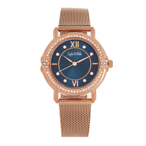 Sophie and Freda Reno Bracelet Watch w/Swarovski Crystals - SAFSF5405