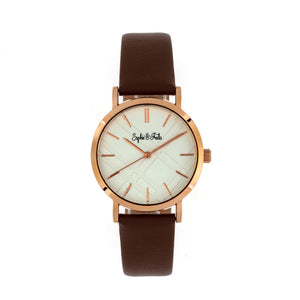 Sophie and Freda Budapest Leather-Band Watch - Brown - SAFSF5004