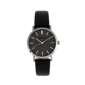 Sophie and Freda Budapest Leather-Band Watch - Black - SAFSF5002