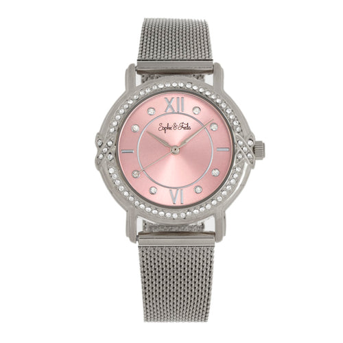 Sophie and Freda Reno Bracelet Watch w/Swarovski Crystals - SAFSF5402