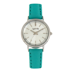 Sophie & Freda Berlin Leather-Band Watch - Turquoise - SAFSF4803