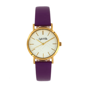 Sophie and Freda Budapest Leather-Band Watch - Purple - SAFSF5003