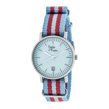 Load image into Gallery viewer, Sophie & Freda Nantucket Nylon-Band Ladies Watch - Silver/Powder Blue - SAFSF3301