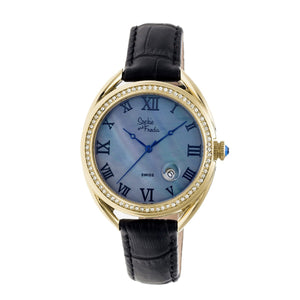 Sophie & Freda Austin MOP Swiss Ladies Watch - Gold/Black - SAFSF2906