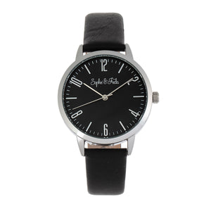 Sophie and Freda Vancouver Leather-Band Watch - Black - SAFSF4901