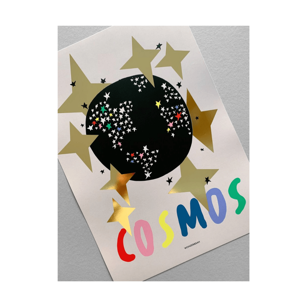 Gold Foil Cosmos Children's Print