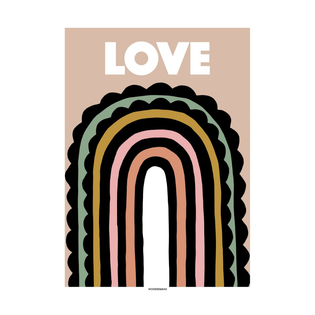 LOVE Rainbow Children's Print