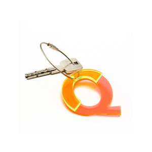 Q - Recycled Keychain ABC