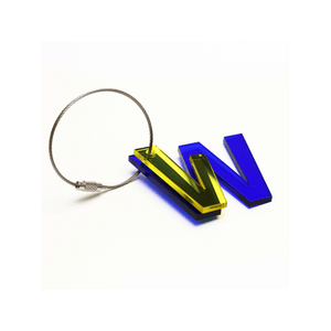 W - Recycled Keychain ABC
