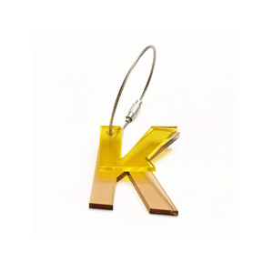 K - Recycled Keychain ABC