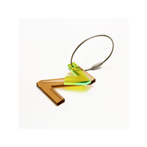 Z - Recycled Keychain ABC