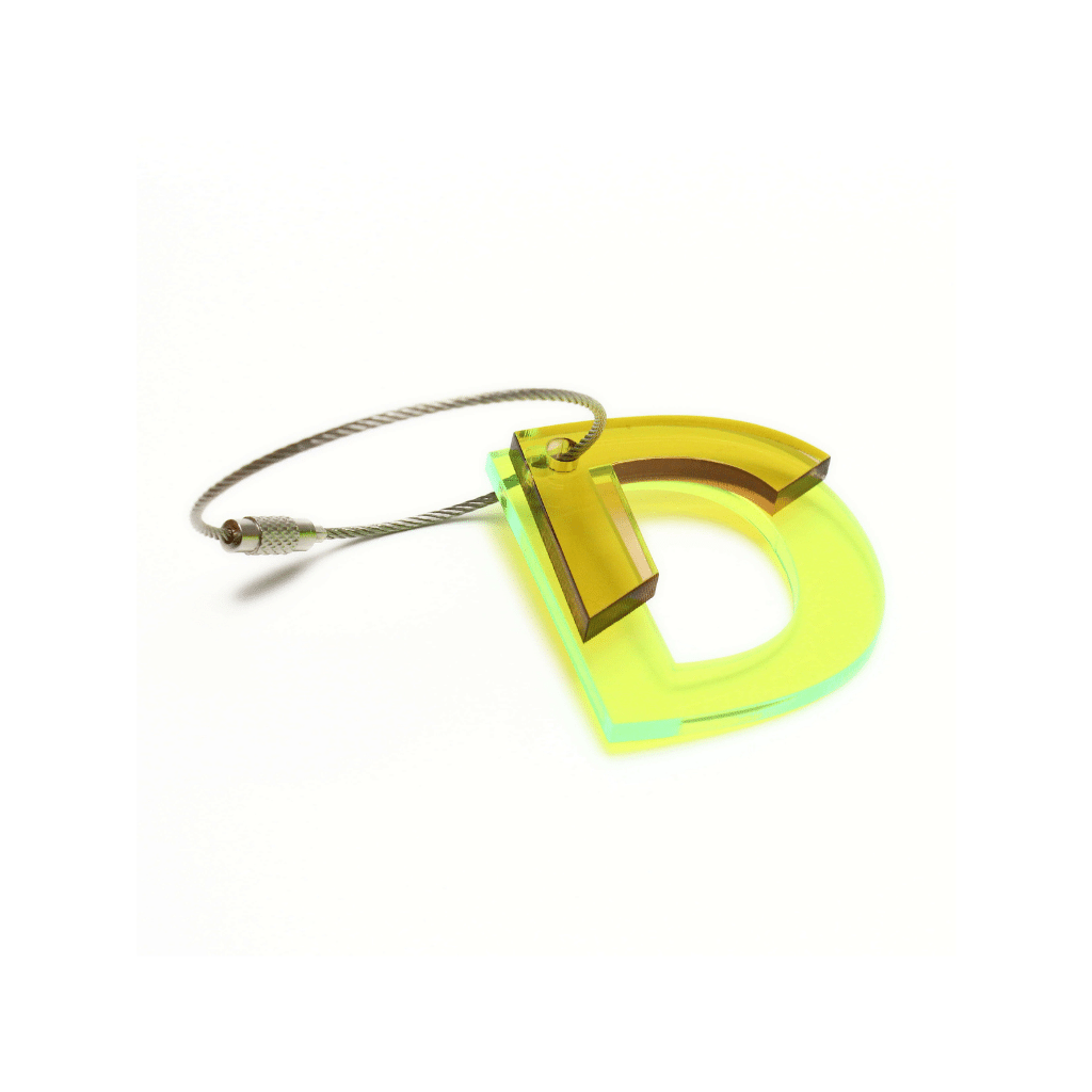 D - Recycled Keychain ABC