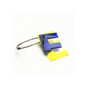 E - Recycled Keychain ABC