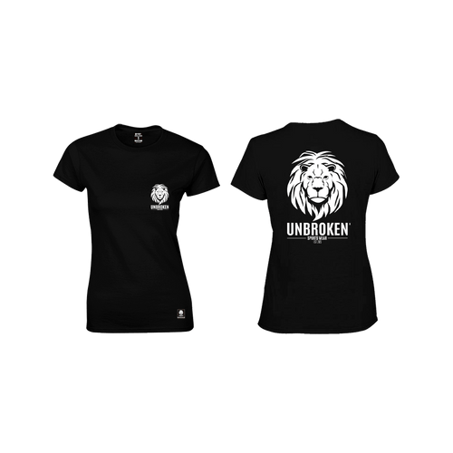 Unbroken Lion classic Black Women - Unbroken Sports Wear