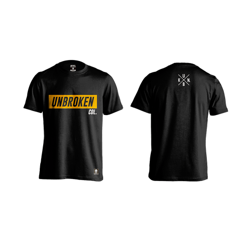 Camiseta Col Black Gold Hombre Unbroken - Unbroken Sports Wear