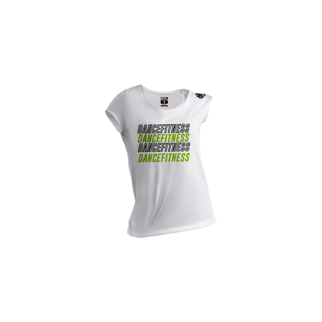 Camiseta para hombre color blanco dancefitness