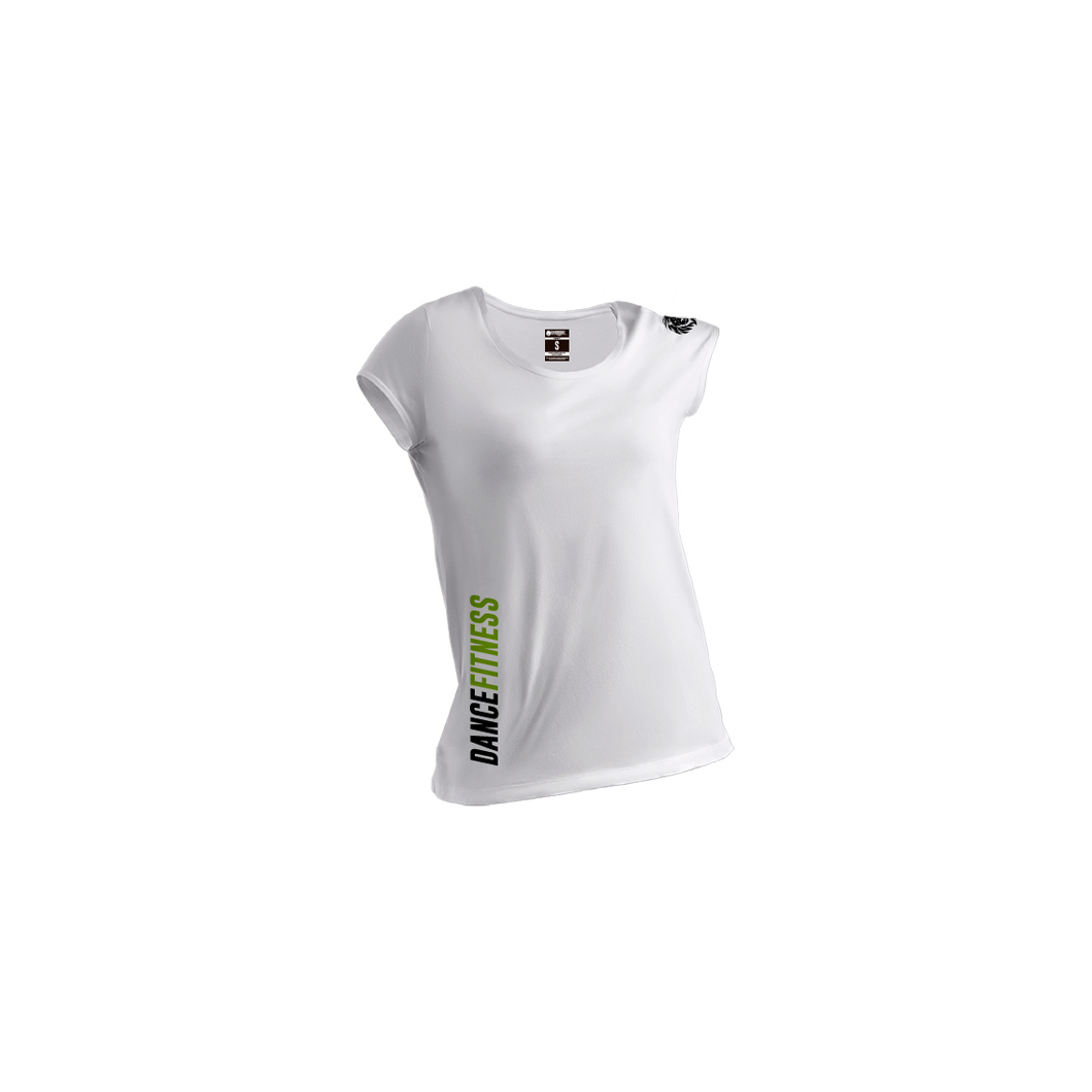 Camiseta Classic Dance fitness mujer white - Unbroken Sports Wear