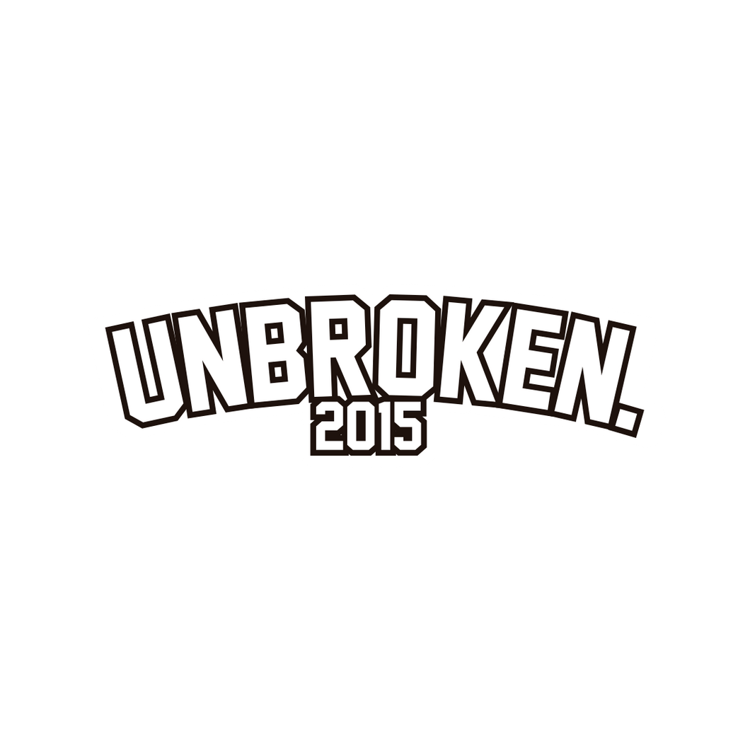 Sticker Unbroken 2015 coleccionable - Unbroken Sports Wear