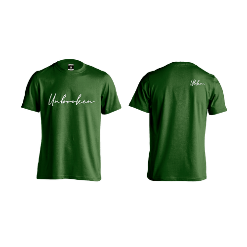 Camiseta Hombre Unbroken Signature green - Unbroken Sports Wear