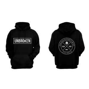 Hoodie Unbroken Circle black - Unbroken Sports Wear