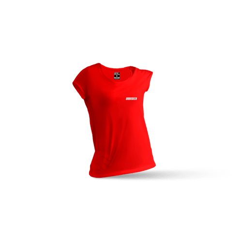 Camiseta Basic Red mujer - Unbroken Sports Wear