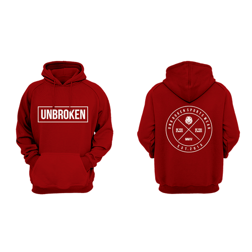 Hoodie Unbroken Circle red - Unbroken Sports Wear