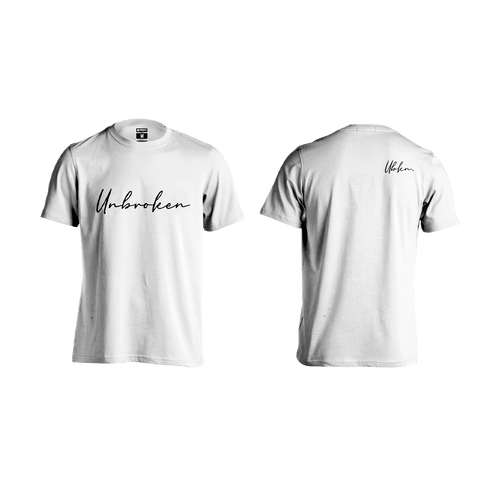 Camiseta Hombre Unbroken Signature white - Unbroken Sports Wear